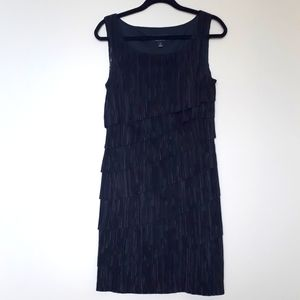Connected Apparel Size 10 Black Tiered Dress